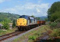Diesel freight at Llanwrda Station