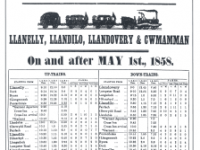 First railway time table