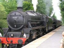Llanwrda Station Steam train