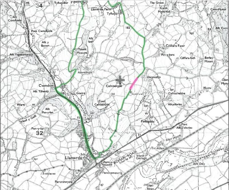 Road closure map Llanwrda